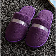 cheap Slippers-Solid House Slippers Women's Slippers Polyester Knit solid color