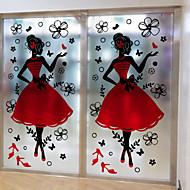 baratos Películas e Adesivos de Janela-Art Deco Natal Adesivo de Janela, PVC/Vinil Material Decoração de janela Sala de Estar