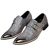 baratos Sapatos Masculinos-Homens Sapatos formais Pele Napa Outono / Inverno Oxfords Dourado / Prata / Festas & Noite / Sapatas de novidade