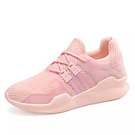 Women's Sneakers Light Soles Spring Fall Tulle Casual Outdoor Lace-up Flat Heel White Black Blushing Pink Flat