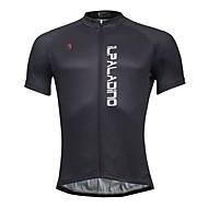 ILPALADINO Muškarci Kratkih rukava Biciklistička majica - Crn Bicikl Biciklistička majica, Quick dry, Proljeće Ljeto, Poliester Coolmax