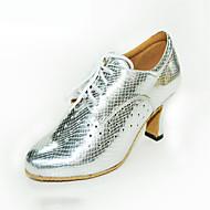billige Moderne sko-Dame Latin Kunstlær Sandaler Joggesko Profesjonell Stiletthæl Gull Svart Sølv Kan spesialtilpasses