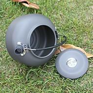 cheap Camp Kitchen-ALOCS Camping Coffee Pot Camping Kettle Teapot Aluminium for Camping / Hiking Picnic Outdoor