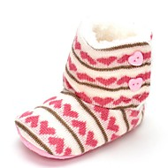 Bebê Rasos Conforto Botas da Moda Sintético Outono Inverno Casamento Casual Social Festas & Noite Velcro Rasteiro Rosa claro Rasteiro