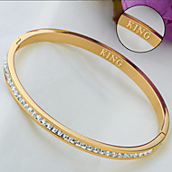 Jewelry fashion exquisite inlaid CZ TITANIUM BRACELET LADIES circle