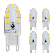 Χαμηλού Κόστους -5pcs 2W 180lm G9 LED Φώτα με 2 pin T 14 LED χάντρες SMD 2835 Θερμό Λευκό / Ψυχρό Λευκό 220-240V / 5 τμχ