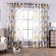 Rod Pocket Grommet Top Tab Top Double Pleat Pencil Pleat Curtain Pastoral Botanical Living Room Material Sheer Curtains Shades Home