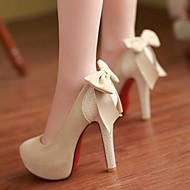 Femme Chaussures Polyuréthane Printemps Automne Confort Chaussures à Talons Talon Aiguille Bout rond Pour Décontracté Noir Beige Chameau