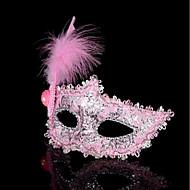 1pc kleine hoed haarband voor Halloween kostuum feestje de platte gouden zilveren maskerade masker veer schilderij masker feestje kleine