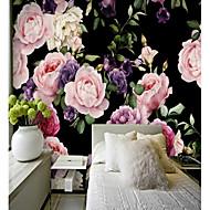 billige Tapet-3D Blomst Klassisk Hjem Dekor Pastorale Stilen Moderne / Nutidig Tapetsering, Lerret Materiale selvklebende nødvendig Veggmaleri, Tapet