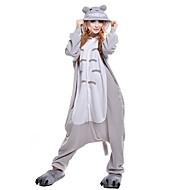Kigurumi Pyjama  Kat totoro Kostuum Grijs Knuffelfleece Kigurumi Gympak / Onesie Cosplay Festival / Feestdagen Dieren nachtkleding