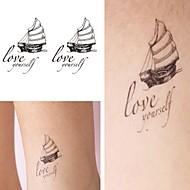 billiga Tatuering och body art-5 pcs Tatueringsklistermärken tillfälliga tatueringar Totemserier / Djurserier / Blomserier Vattentät / Ogiftig Body art Ansikte / Kropp / händer