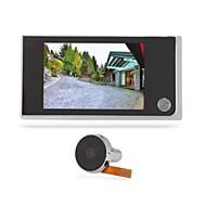 Digital elektronisk video doorbell dørhull peephole lang standby 120 graders vidvinkel