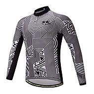 サイクリングジャージー バイク トップス 高通気性 速乾性 モイスチャーコントロール スポーツ フリース 冬 マウンテンサイクリング ロードバイク 衣類 サイクルウェア