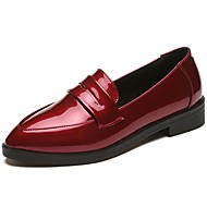 cheap Women's Slip-Ons & Loafers-Women's Shoes Patent Leather Spring Comfort Loafers & Slip-Ons Low Heel Pointed Toe Black / Yellow / Red