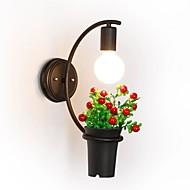 40 E27 E26 Enkel Retro Rød Moderne / Nutidig Maleri Trekk for Mini Stil,Atmosfærelys Vegglampe