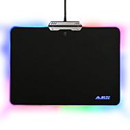 Tapete de rato duro ajazz colorido 9 modos de iluminação rgb controle de toque para escritório de jogos
