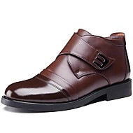 Men's Boots Snow Boots Fall Winter Cowhide Wedding Casual Party & Evening Black Coffee 1in-1 3/4in