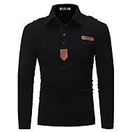 Polo Muškarci - Vintage Aktivan Vikend Jednobojni Kragna košulje Slim