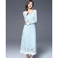 Žene Slatko Korice Haljina Vez V izrez Maxi