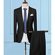 odijela Normalne dužine Muškarci, Posao Jednostavan Ležerne prilike Rad Jednobojni Klasični rever Ljeto Pamuk Poliester
