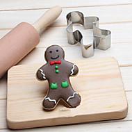 billige Bakeredskap-chritsmas gingerman kaker kutter rustfritt stål kjeks kake mold kjøkken bakeverktøy