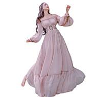 Sweet Lolita Princeza Čipka Žene Djevojčice Haljine Cosplay Pink Biskup Dugih rukava Do poda