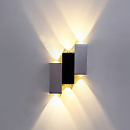 Ambient Light Flush Mount wall Lights LED Integrated Modern/Contemporary Brushed For