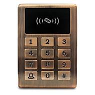 Metaal waterdicht id toegangscontrole toegangscontrole kaartlezer creditcard toegangscontrole controller backlight knop 125khz