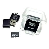 16gb microsdhc tf cartão de memória com leitor de cartão usb e sdhc sd adaptador