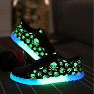 Masculino Tênis Conforto Solados com Luzes Tênis com LED Micofibra Sintética PU Primavera Outono Casual Festas & Noite Cadarço Rasteiro
