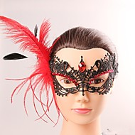 halpa -Euroopan ja american tyylin tyylikäs nainen musta pitsi perhonen cryastal tupsu naamio naispuolinen puku puolue ilta puoli lohko maski