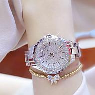 billige Quartz-Dame Afslappet Ur Simuleret Diamant Ur Diamantbelagt ur Armbåndsur Unik Creative Watch Kinesisk Quartz Vandafvisende Rhinsten Selvlysende