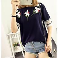Majica s rukavima Žene Jednobojni Cvjetni print Pamuk