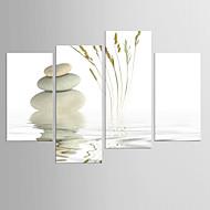 Estampados de Lonas Esticada Abstracto,4 Painéis Tela qualquer Forma Estampado Decoração de Parede For Decoração para casa