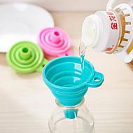 キャンディーカラーホーム長い首のファネル創造的な台所用品毎日使用する1個