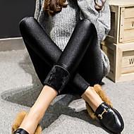 Dame Fleecefor Legging Ensfarvet Helfarve Medium Talje