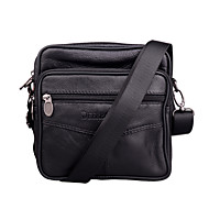 Men Bags Cowhide Shoulder Bag for Casual Outdoor Office & Career All Seasons Black Brown
