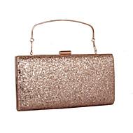 baratos Clutches & Bolsas de Noite-Mulheres Bolsas Couro Ecológico Bolsa de Mão Lantejoulas / MiniSpot Dourado / Prata