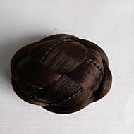 kinky krøllete brunt mote menneskehår capless parykker chignons 2009