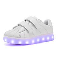 preiswerte -Jungen Sneaker Komfort Neuheit Leuchtende LED-Schuhe Künstliche Mikrofaser Polyurethan Herbst Winter Normal Klettverschluss Flacher Absatz
