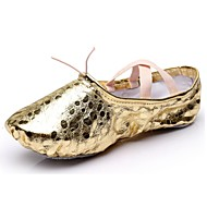 "Women's Ballet Synthetic Flat Indoor Polka Dot Flat Heel Gold Silver Under 1"" Customizable"