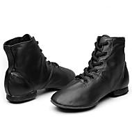 billige Jazz-sko-Herre / Dame Jazz-sko Lær Støvler Flat hæl Kan spesialtilpasses Dansesko Svart / Ytelse