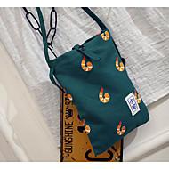baratos Bolsas de Ombro-Mulheres Bolsas Tela de pintura Bolsa de Ombro para Ao ar livre Azul / Verde / Branco