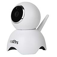 billige IP-kameraer-VESKYS 1.3 MP Innendørs with IR-kutt 64(Innebygd høyttaler Innebygget mikrofon Dag Nat Bevegelsessensor Fjernadgang Plug and play IR-klip