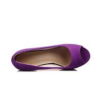 baratos Sapatos Femininos-Mulheres Sapatos Couro Ecológico Verão Conforto Sandálias Preto / Roxo / Vermelho