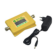 mini intelligent display 3g mobiltelefon signal booster umts w-cdma 2100mhz signal repeater med strømforsyning gul