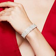 Žene Narukvica Tenis Narukvice Umjetno drago kamenje Luksuz Vjenčan Elegantno Moda Umjetno drago kamenje Glina Imitacija dijamanta Legura