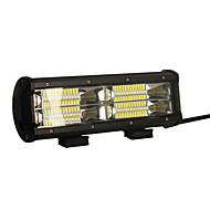 2pcs 144w 14400lm 6000k 3-linhas conduzido luz de trabalho leve luz branca de incandescência luz de condução offroad para carro / barco /