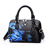 Women Bags All Seasons PU Shoulder Bag Pattern / Print for Casual Office & Career Blue Red Purple Light Green